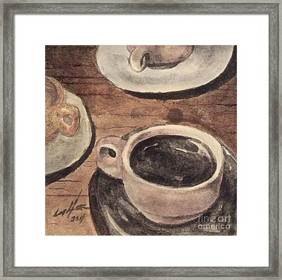 A Morning Cup Framed Print
