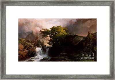 A Mountain Stream Framed Print by Thomas Moran