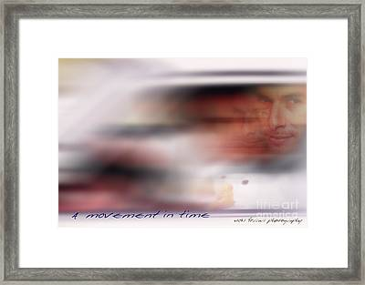 Framed Print featuring the photograph A Movement In Time by Vicki Ferrari