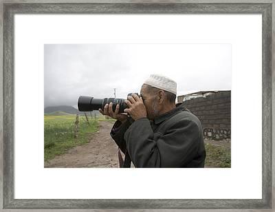 A Muslim Rural Resident Looks Framed Print by David Evans