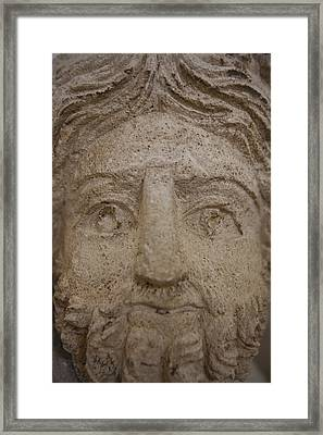 A Nabatean Bust Of Atargatis Framed Print by Taylor S. Kennedy