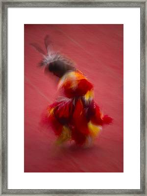 A Native American Dancer In Traditional Framed Print by Michael Melford