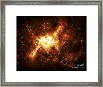 A Nebula Surrounded By Stars Framed Print