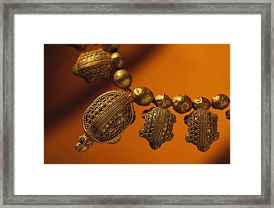 A Necklace Of Gold Turtles Framed Print by Randy Olson