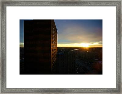 Framed Print featuring the photograph A New Day Begins Calgary Alberta by JM Photography