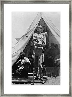 A New York State Soldier Poses Framed Print