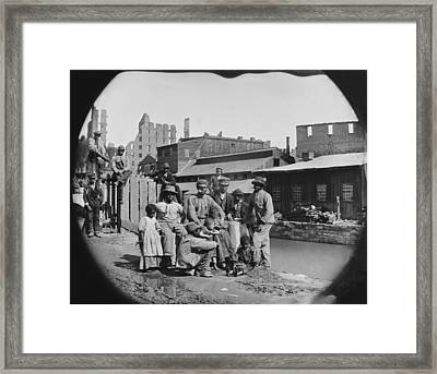 A Newly Freed African American Group Framed Print by Everett