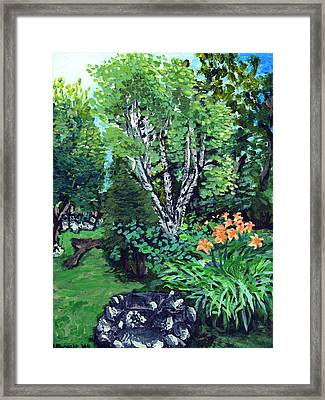 Framed Print featuring the painting A Nice Place To Take A Bath by Denny Morreale