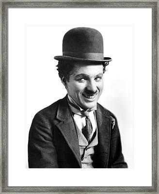 A Night Out, Charlie Chaplin, Aka Framed Print
