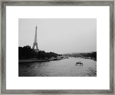 A Noir Look At The Eiffel Tower Framed Print by Chris Ann Wiggins