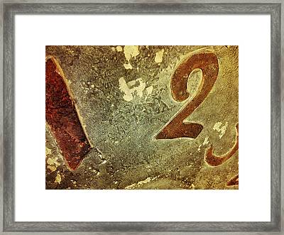 A One And A Two Framed Print by Olivier Calas