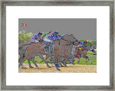 A Packed Field Framed Print by David Lee Thompson