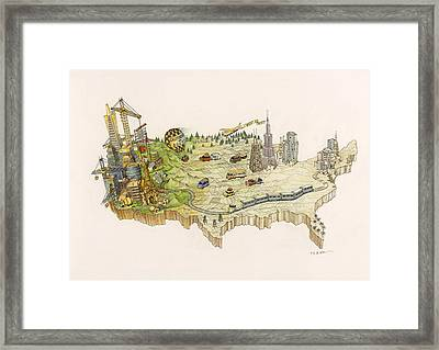 A Painting By Al Lorenz Of The United Framed Print