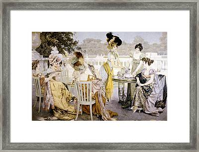 A Painting Depicting Women Wearing Framed Print