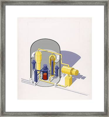 A Painting Of An Improved Reactor Framed Print