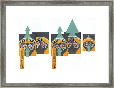 A Painting Shows How Cocaine Works Framed Print by Davis Meltzer