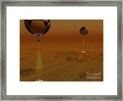 A Pair Of Balloon-borne Probes Framed Print