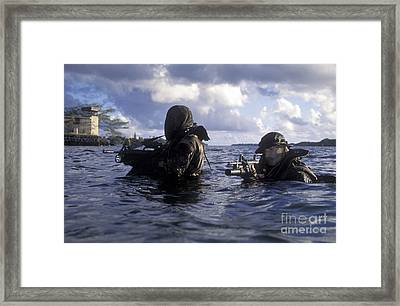 A Pair Of Navy Seal Combat Swimmers Framed Print