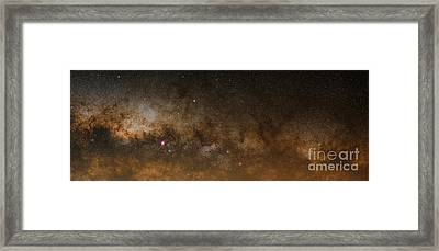 A Panorama Of The Milky Way Framed Print