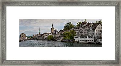 A Panorama View Of Zurich Framed Print by Greg Dale