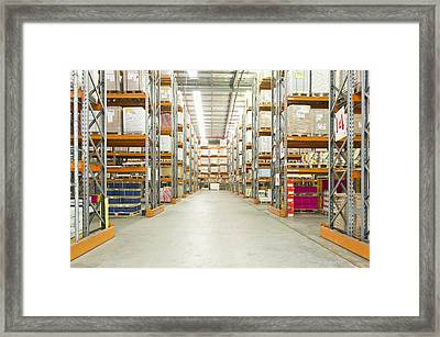 A Paper Distribution Warehouse Framed Print by Dave and Les Jacobs