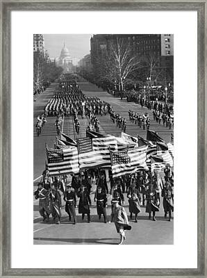A Parade Celebrating The Third Framed Print by Everett