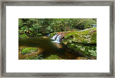 A Parallel View - Somesby Falls Framed Print