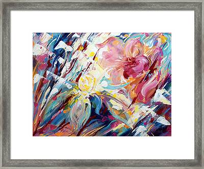 A Passion Of Flowers Framed Print