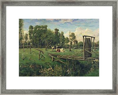 A Pasture In Normandy Framed Print