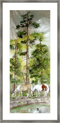 Framed Print featuring the painting A Peaceful Scene by Debbi Saccomanno Chan