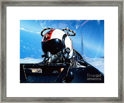A Pilot Sitting In The Back Framed Print by Dave Baranek