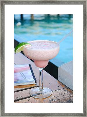 A Pink Sand Margarita Framed Print by Hibberd, Shannon