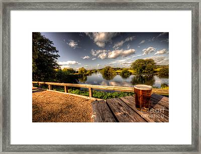 A Pint With A View  Framed Print by Rob Hawkins