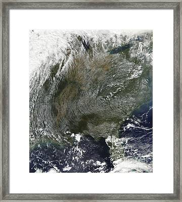 A Pinwheel-like Pattern Of High Framed Print by Stocktrek Images