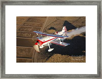 A Pitts Model 12 Aircraft In Flight Framed Print by Scott Germain