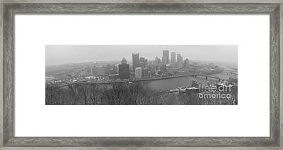 A Pittsburgh Winter Day Framed Print by David Bearden