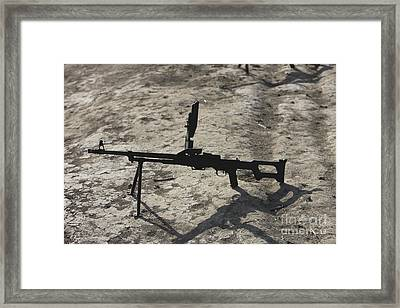 A Pk 7.62 Mm General-purpose Machine Framed Print by Terry Moore