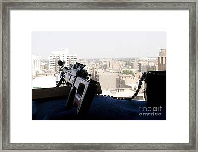 A Pk 7.62mm Machine Gun Nest On Top Framed Print by Terry Moore