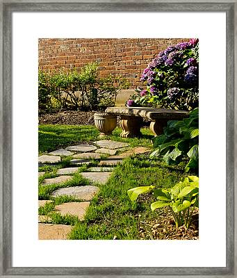 A Place For Reflection Framed Print