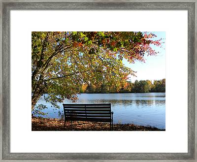 A Place For Thanks Giving Framed Print by Sandi OReilly