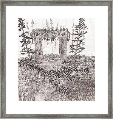 A Place For The Old Gods... - Sketch Framed Print
