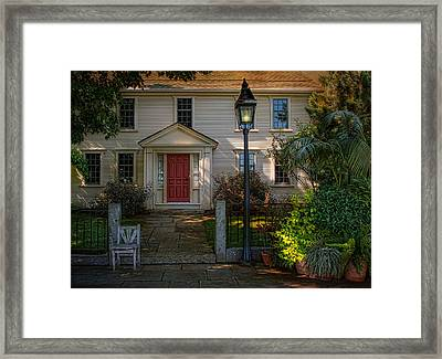 A Place In The Shade Framed Print by Robin-Lee Vieira