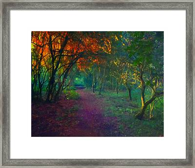 Framed Print featuring the painting A Place Of Mystery by Joe Misrasi
