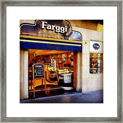 A Place To Enjoy Ice Cream #food #travel Framed Print