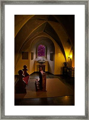 A Place To Pray Framed Print