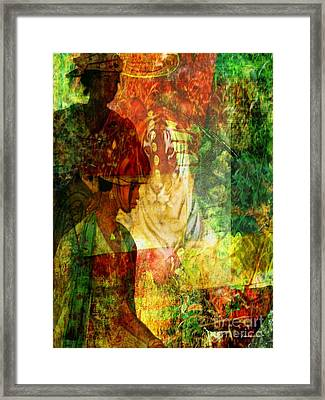 A Poly Game Y Tale Framed Print by Fania Simon
