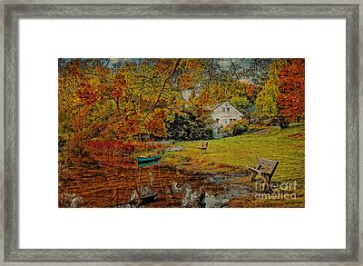 Framed Print featuring the photograph A Pond View by Gina Cormier