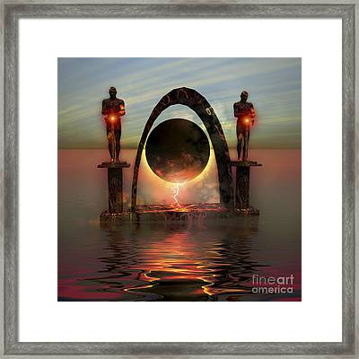 A Portal To Another Dimensional World Framed Print by Corey Ford