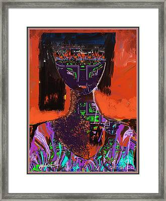 A Portrait Of A Girl Framed Print by Nedunseralathan R