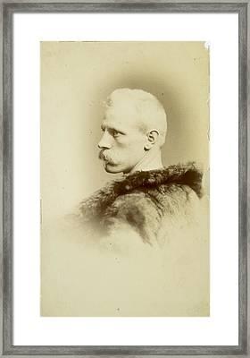 A Portrait Of Fridtjof Nansen Framed Print by Henry Van Der Weyde